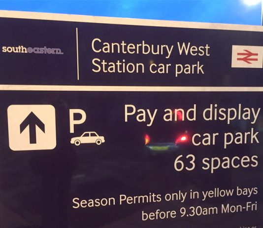 The sign at Canterbury West station
